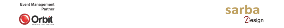 Sarba Design and Orbit logo