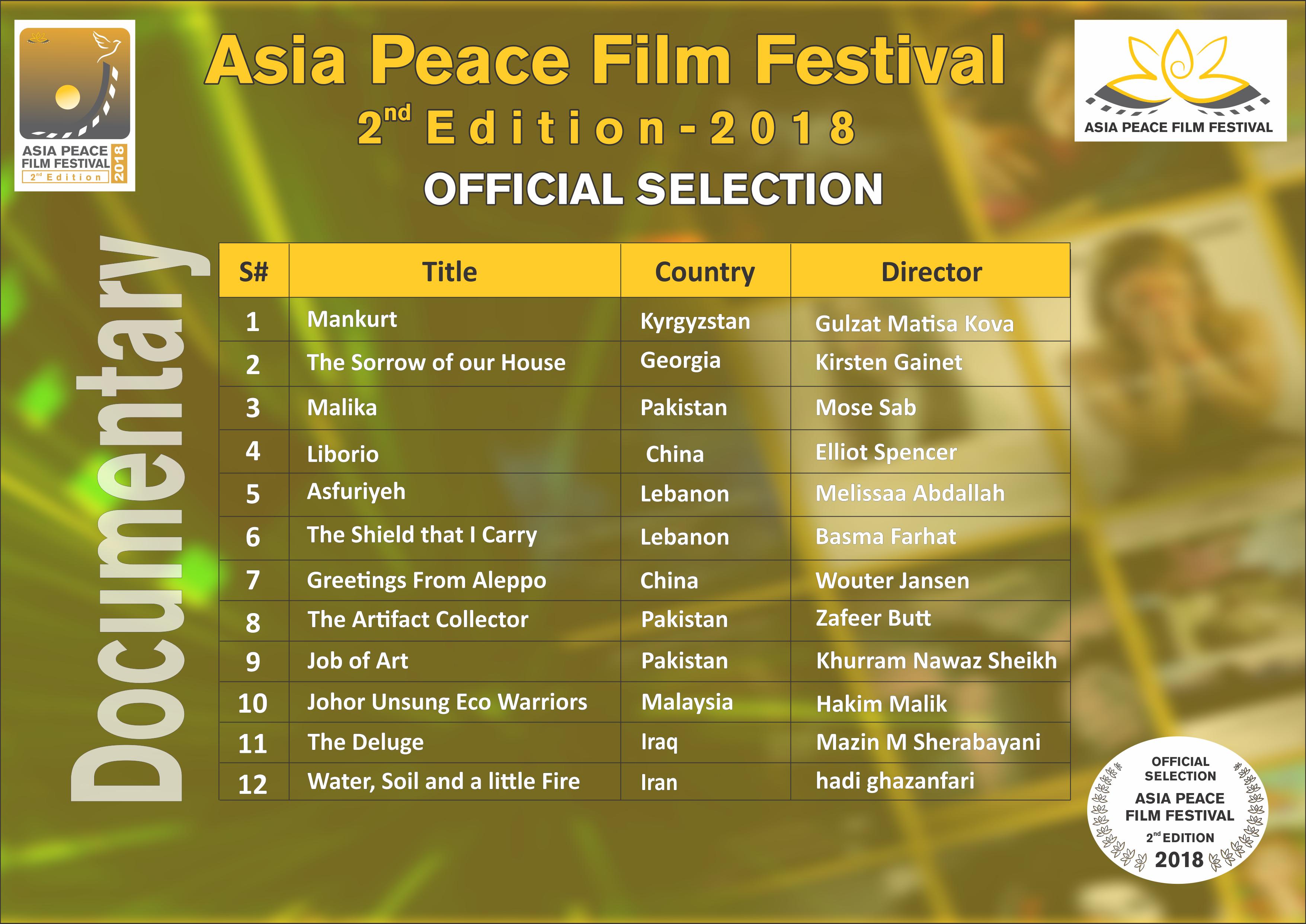 Asia Peace Film Festival - Celebrating Diversity, Harnessing